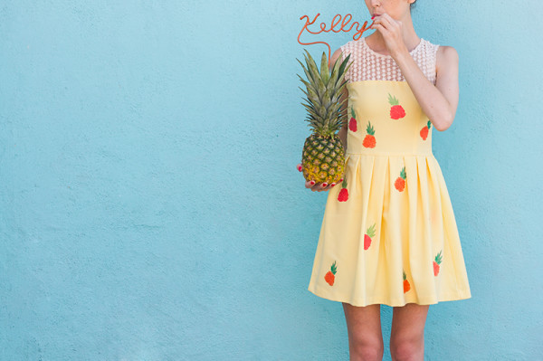 DIY Pineapple Dress Tutorial