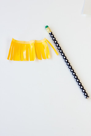 Fringe Pencil Toppers
