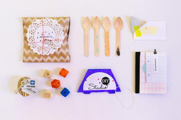 Geometric DIY Event Gift Bags
