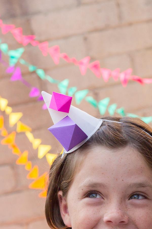 Geometric Party Hat DIY