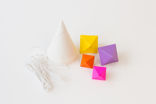 Geometric Party Hat DIY Supplies