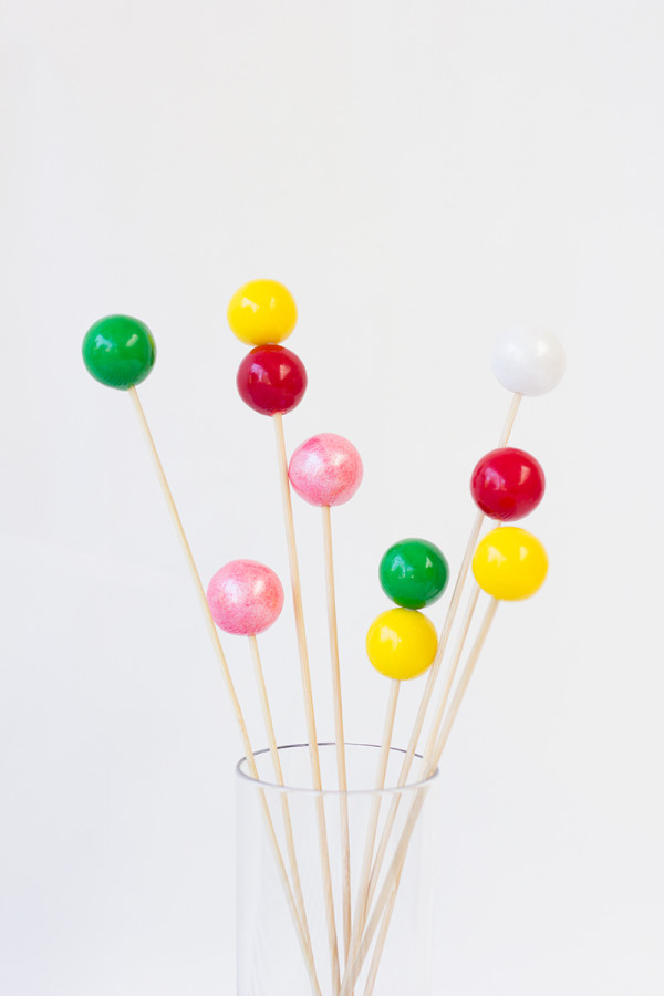 Gumball Drink Stirrers How To