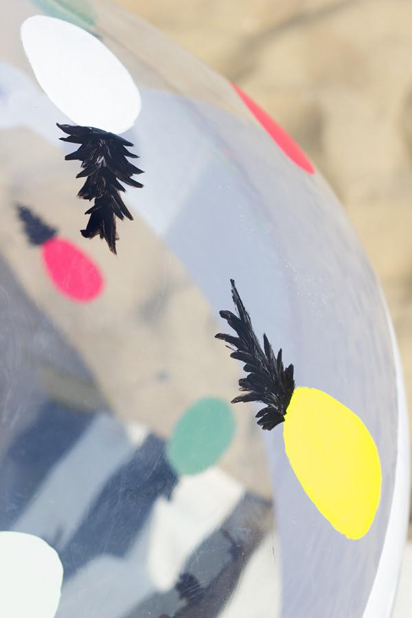 Pineapple Beach Ball DIY