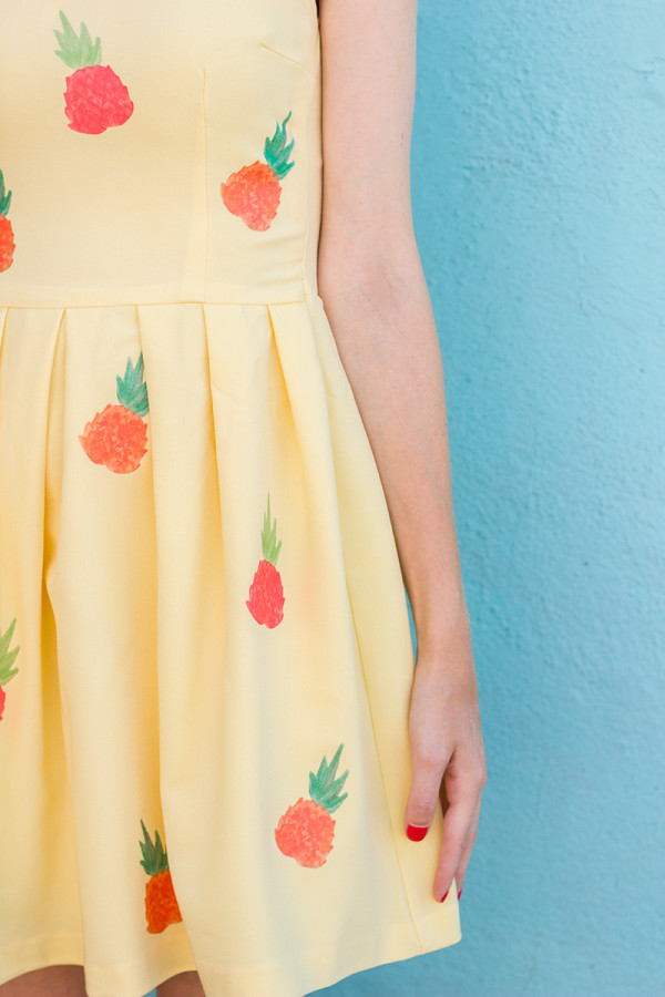 Pineapple Dress DIY and Free Printable