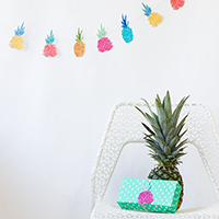 DIY Pineapple Garland + Free Printable