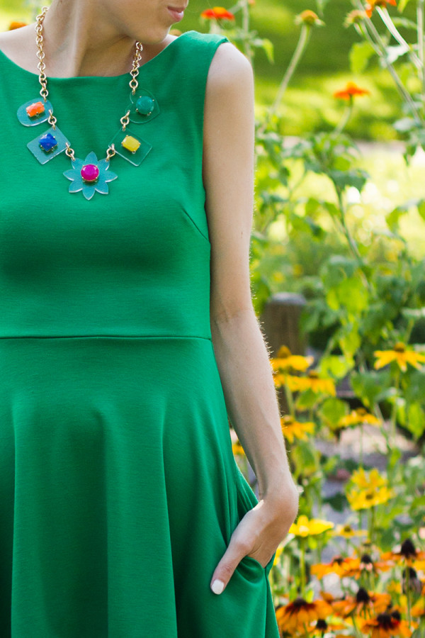 Colorful Lucite Necklace
