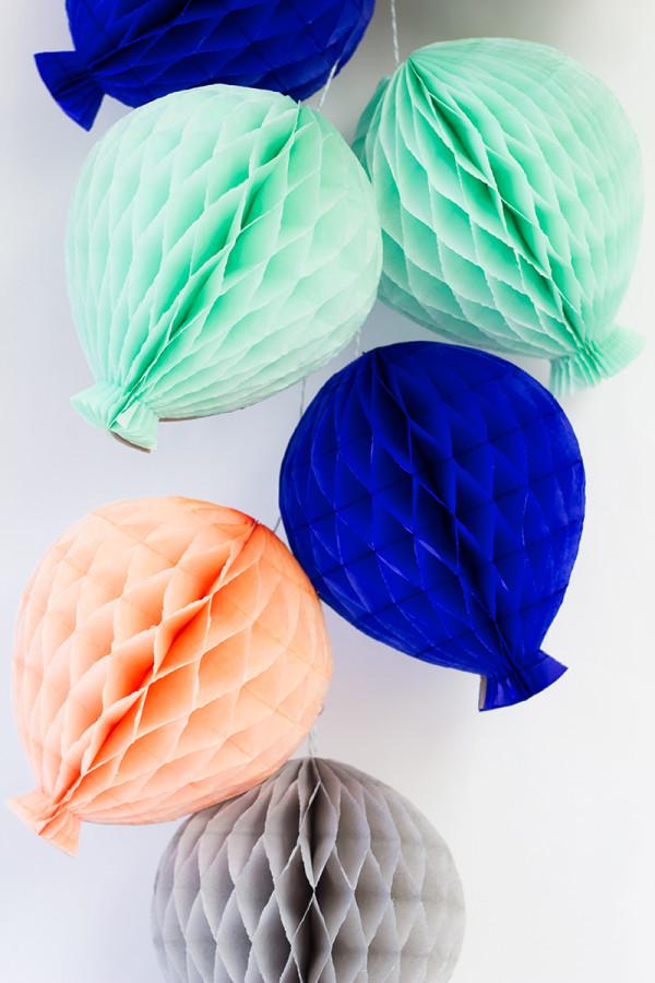 DIY Honeycomb Balloons