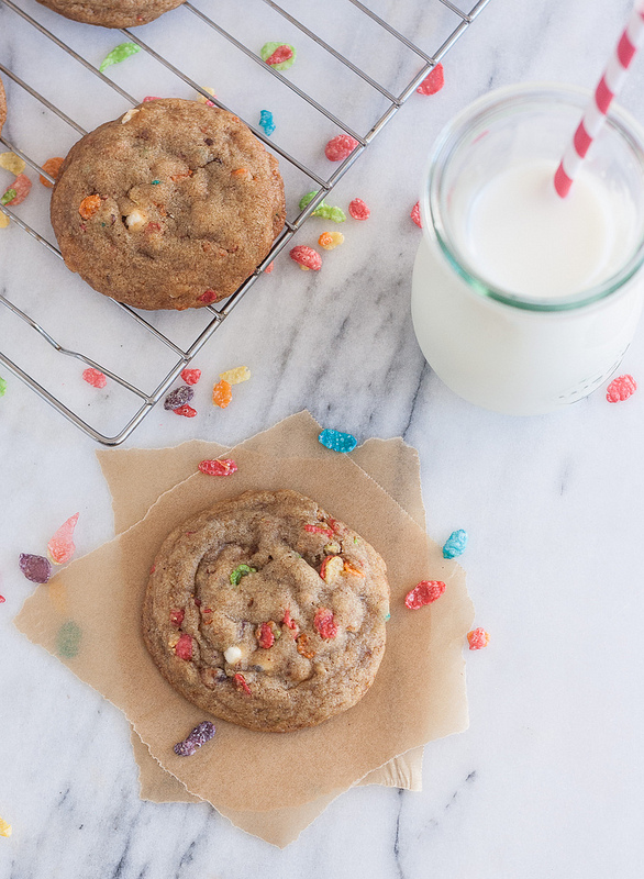 Five Reasons to Eat Fruity Pebbles After Breakfast | Fruity Pebble Cookies by Tracey's Culinary Adventures