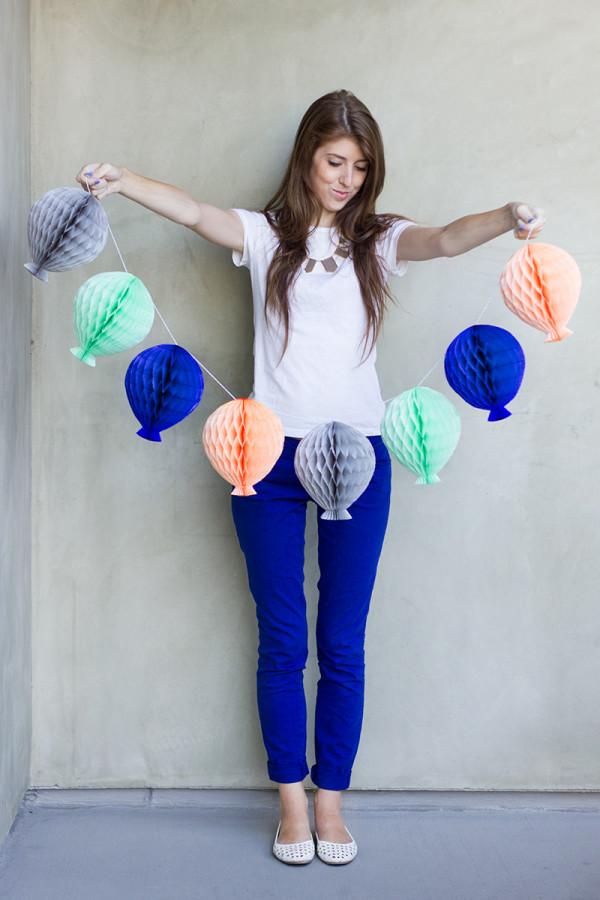 Honeycomb Balloon Garland DIY