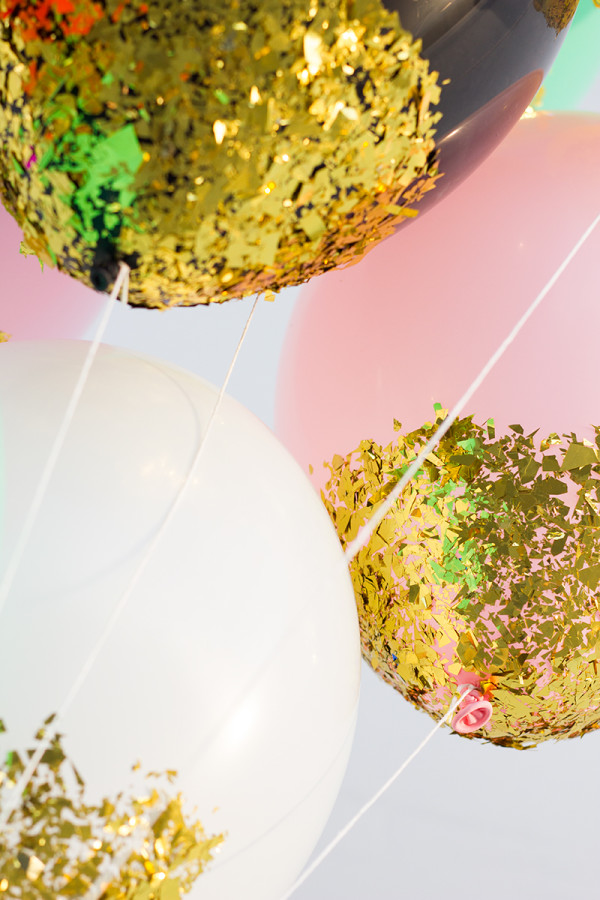 How To Make Confetti DIpped Balloons
