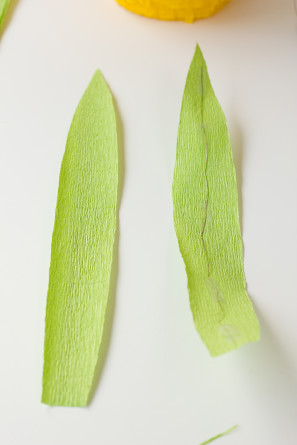 How To Make Crepe Paper Leaves