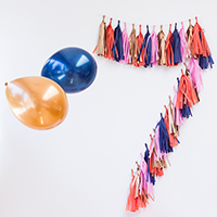 DIY Tassel Garland Numbers