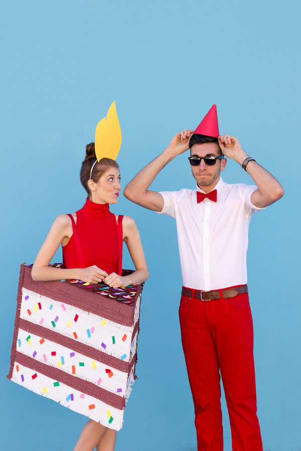 DIY Birthday Cake (+ Birthday Boy!) Couples Costume