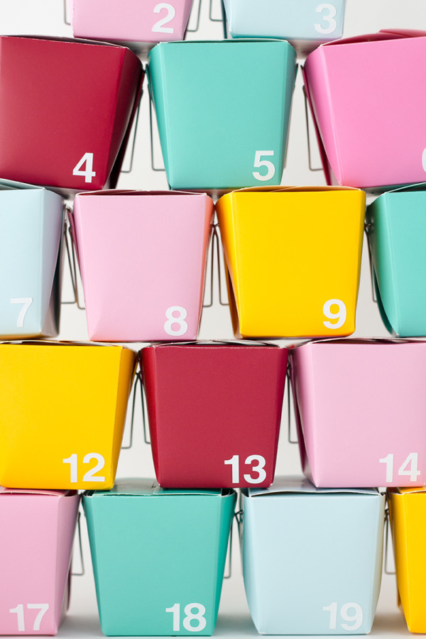 DIY Take-Out Box Advent Calendar