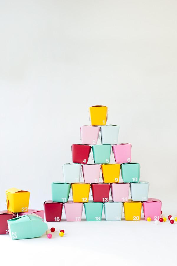 DIY Take-Out Box Advent Calendar