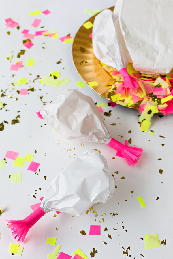 DIY Turkey Leg Confetti Poppers