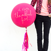 "DIY ""I Am Thankful For…"" Balloon"