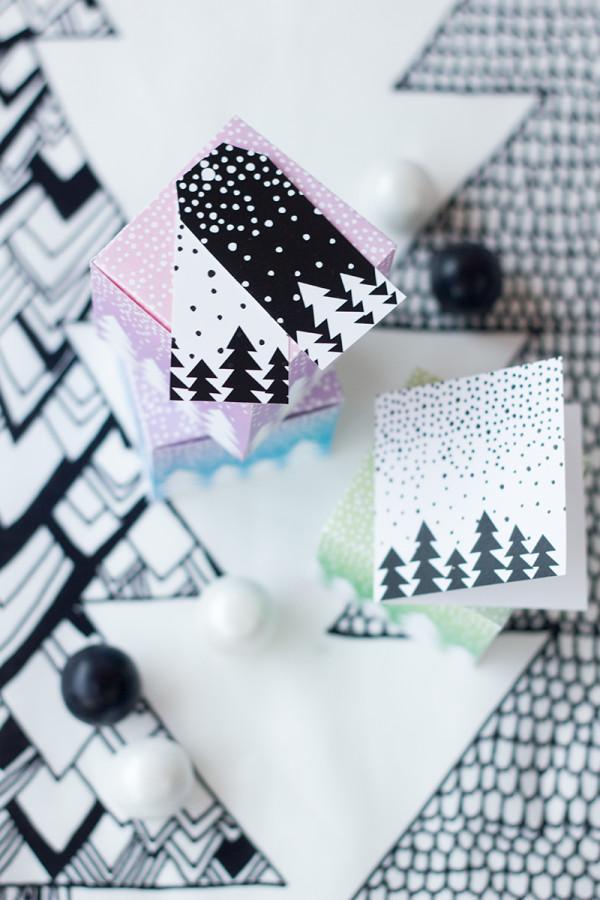 Free Printable Let It Snow Gift Boxes and Tags