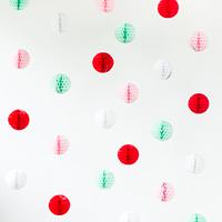 DIY Honeycomb Holiday Photo Backdrop