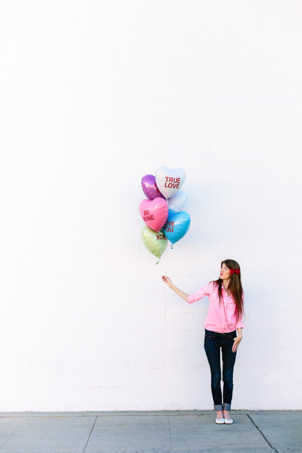 DIY Conversation Heart Balloons