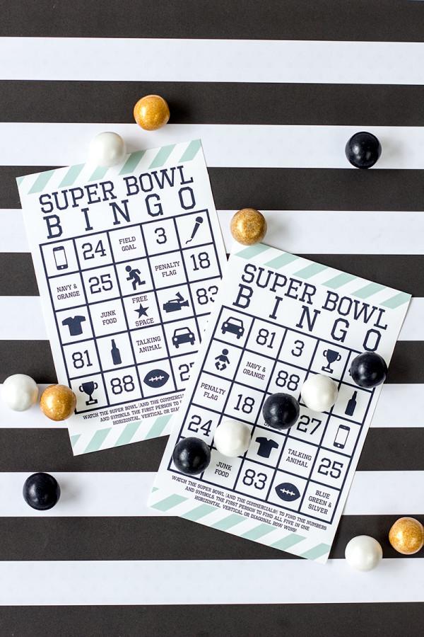 Super Bowl Bingo for 2014