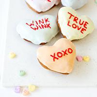 Conversation Heart Donuts