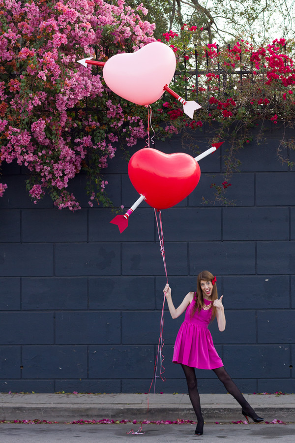 DIY Giant Cupids Arrow Balloons