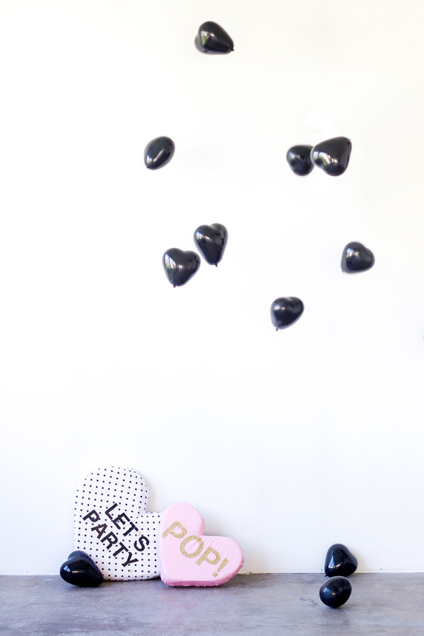 DIY Plush Conversation Hearts