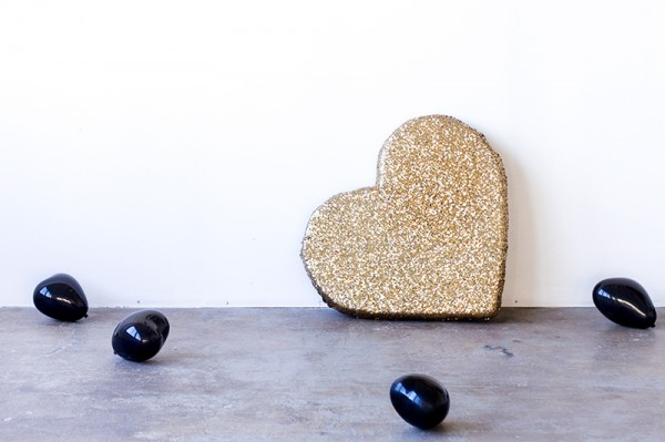 DIY Sequined Plush Heart
