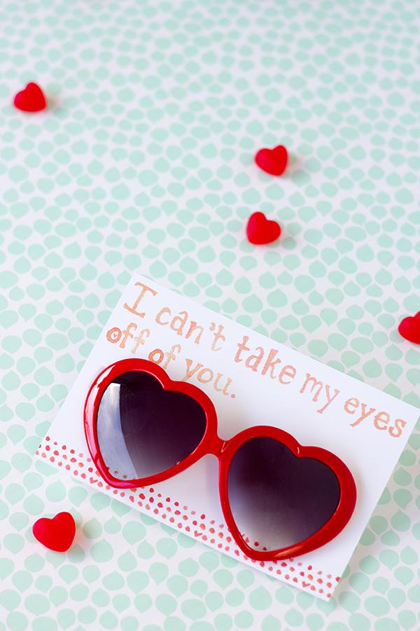 Free Printable Heart Sunglasses Valentine