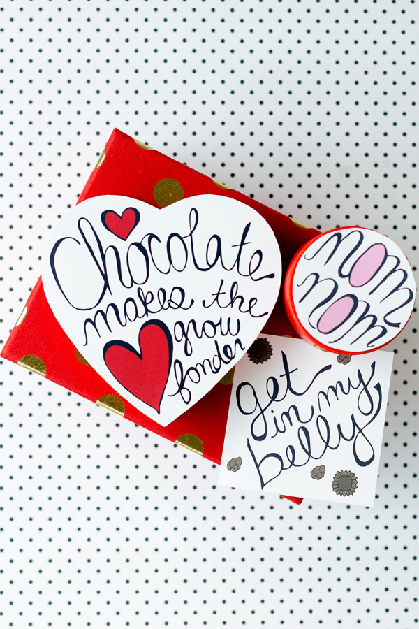 Free Printable Valentine's Day Chocolate Box Makeover