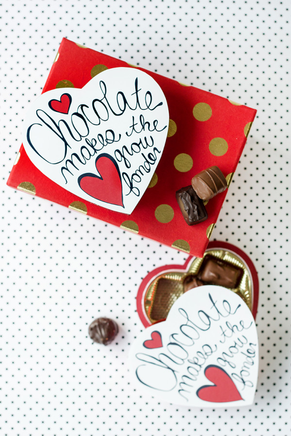 Valentine's Day Chocolate Box Makeover (Free Printables!)