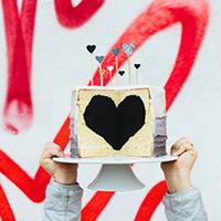 A Love Wall, A Heart Cake + A Bunch of Balloons