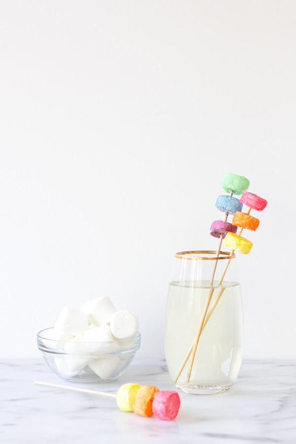 DIY Marshmallow Drink Stirrers