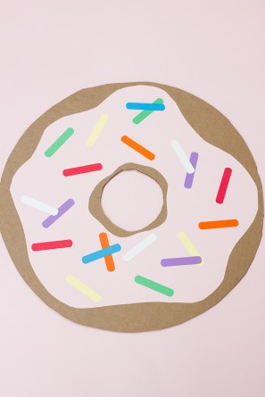 Giant Cardboard Donut DIY