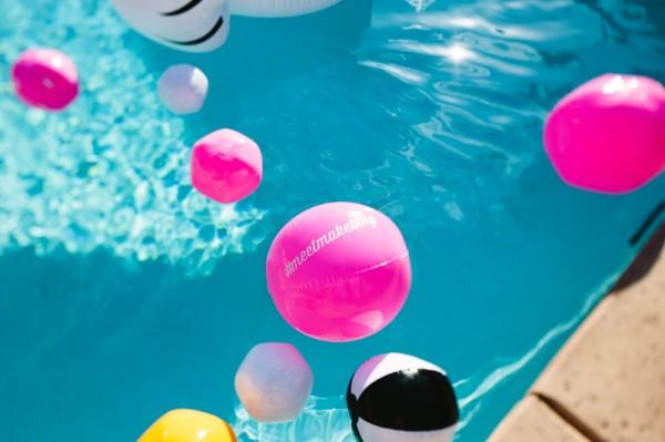 Neon Beach Balls