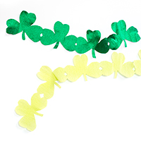 DIY Giant Shamrock Streamers