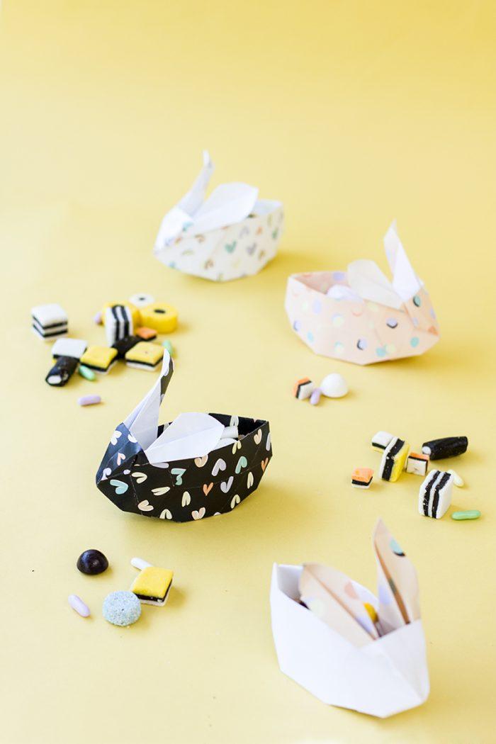 DIY Origami Easter Bunnies (Free Printable!)
