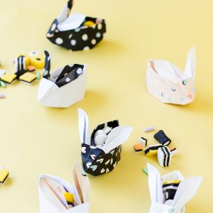 DIY Origami Easter Bunnies (Free Printable!)