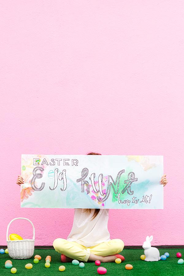 Free Printable Easter Egg Hunt Banner