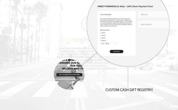 Squarespace Wedding Cash Gift Registry