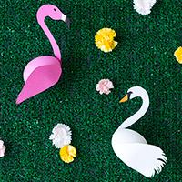 DIY Swan + Flamingo Easter Eggs