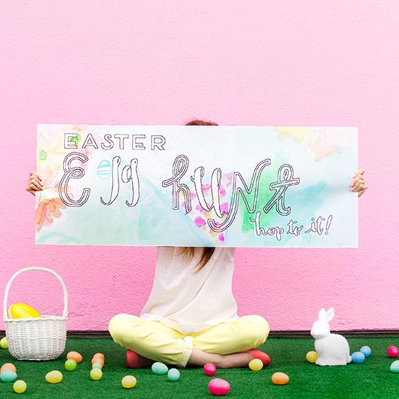 Egg Hunt Banner Printable