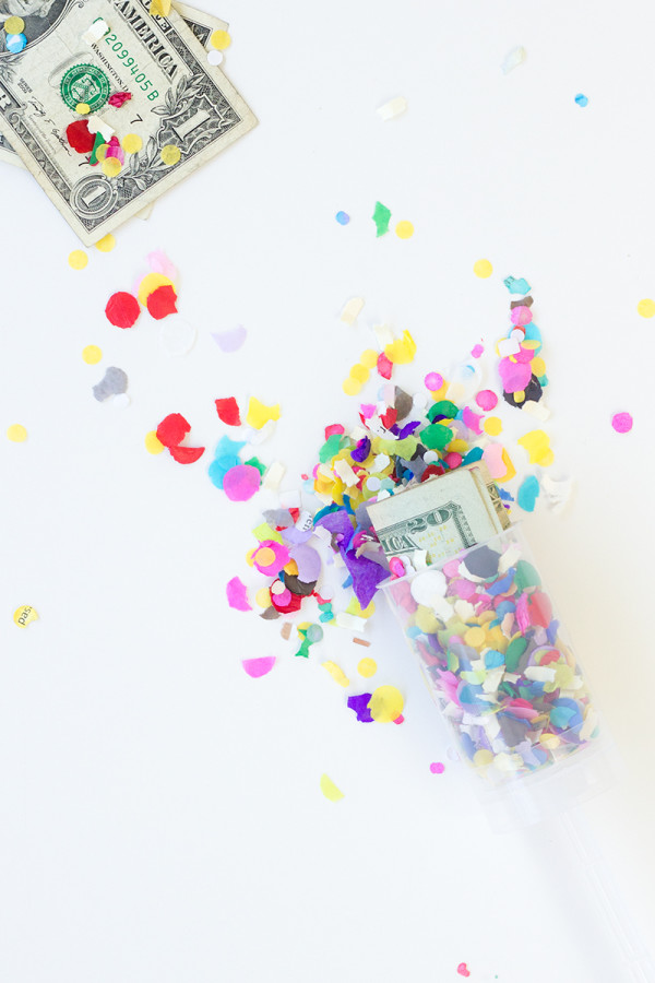 DIY Surprise Money Confetti Popper