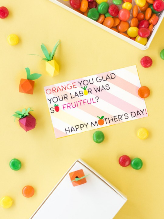 """""""Fruitful"""" Mother's Day Free Printables"""
