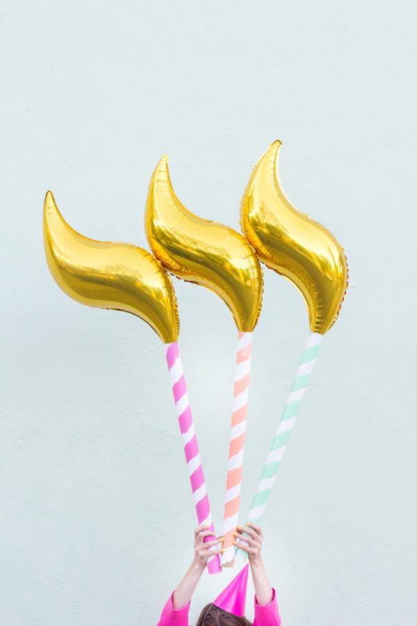 DIY Birthday Candle Balloons