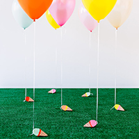 DIY Ice Cream Cone Balloon Weights