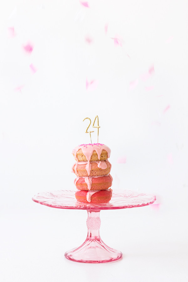 DIY Ombre Donut Layer Cake