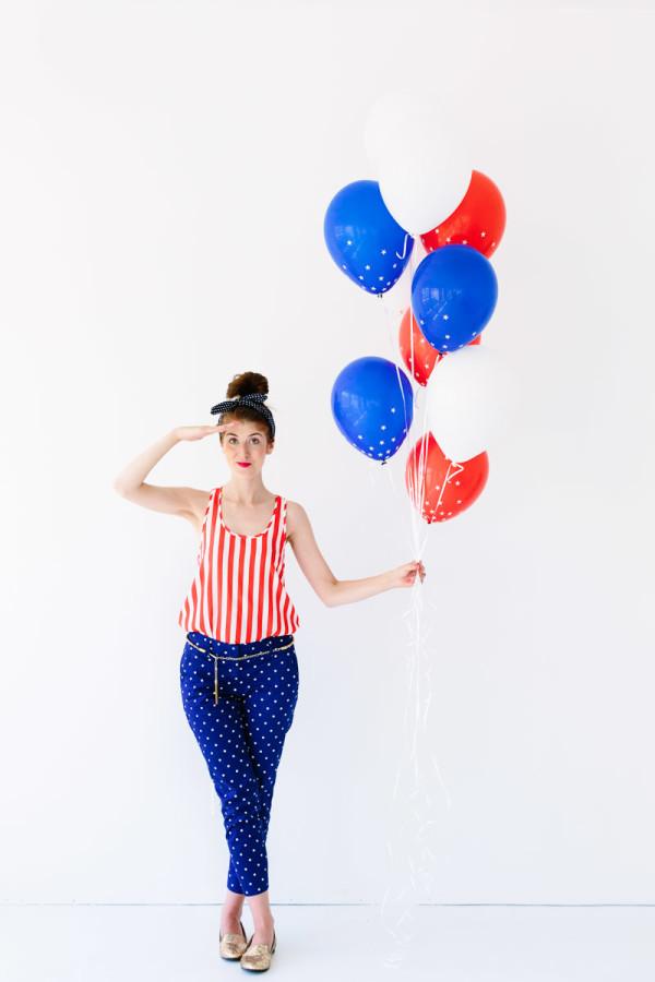 DIY Star Spangled Confetti Balloons