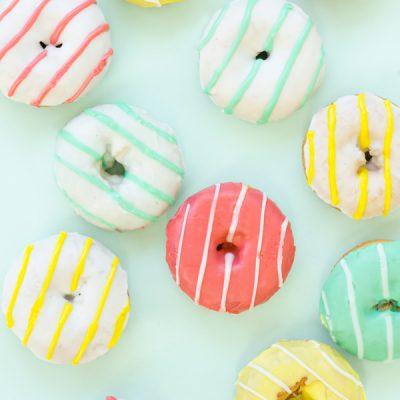 Striped Donuts
